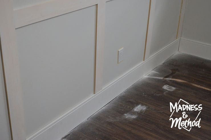 patching and sanding wainscoting