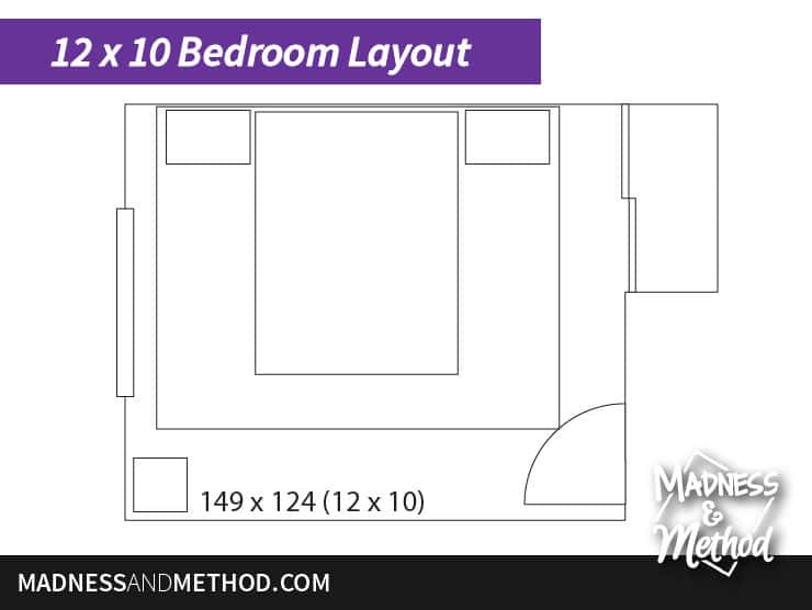 10 x 12 bedroom layout