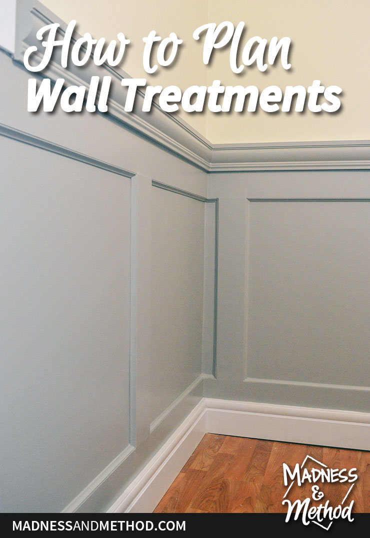how to plan wall treatments graphic
