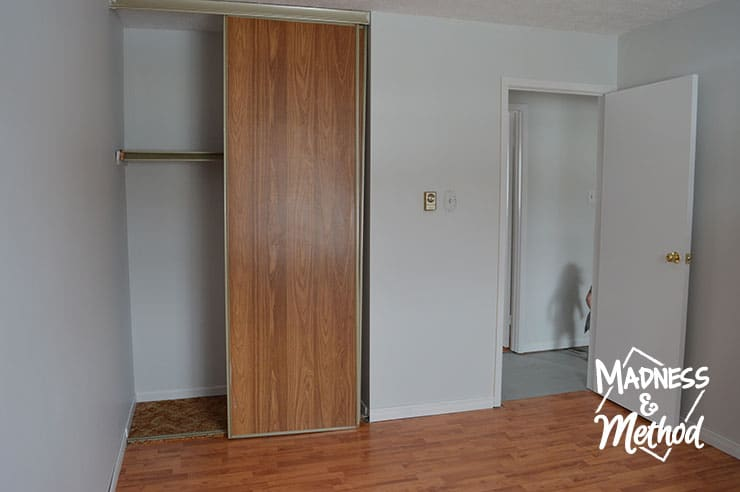 master bedroom closet and door