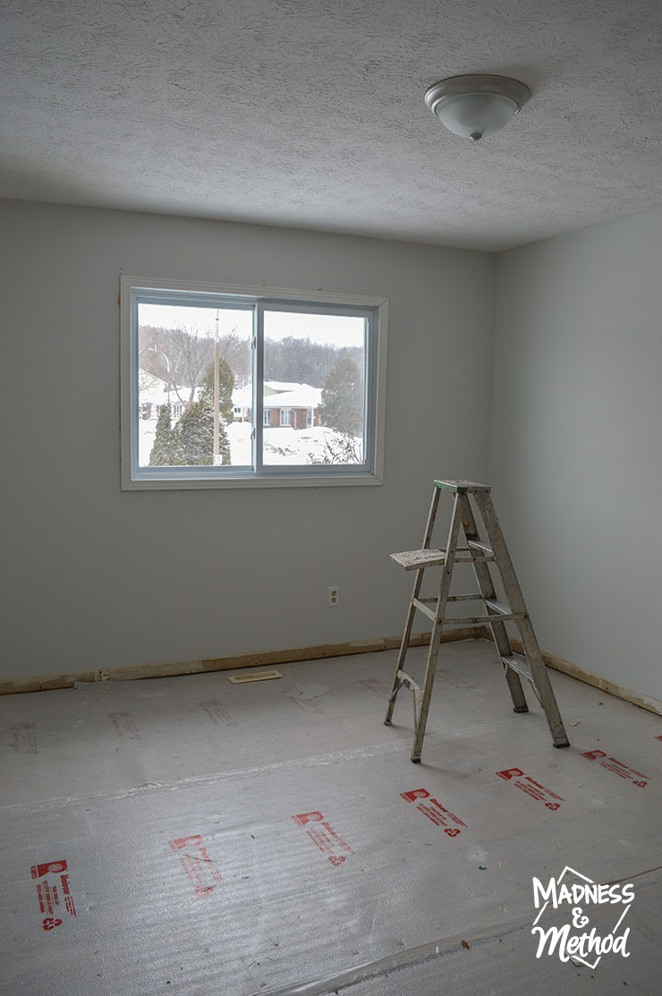 empty master bedroom