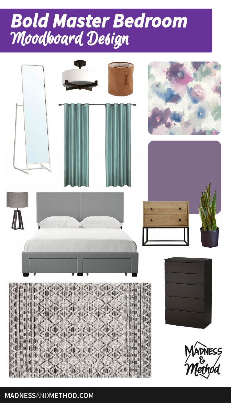 master bedroom moodboard
