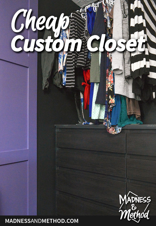 cheap custom closet graphic