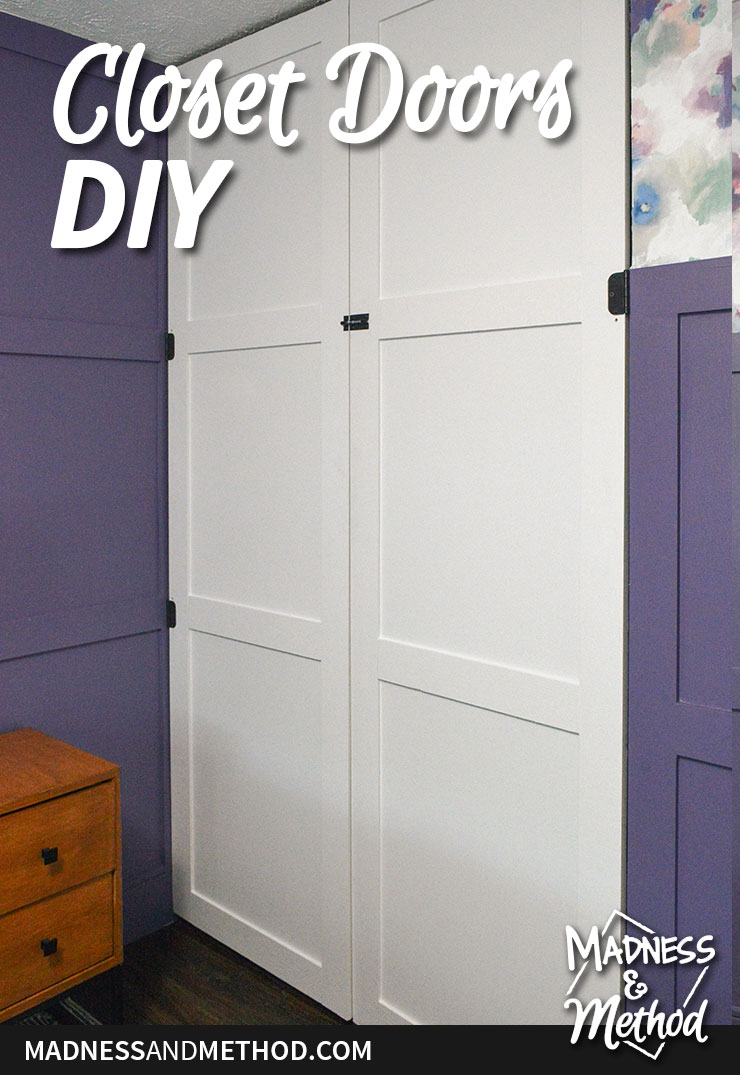 diy closet doors graphic
