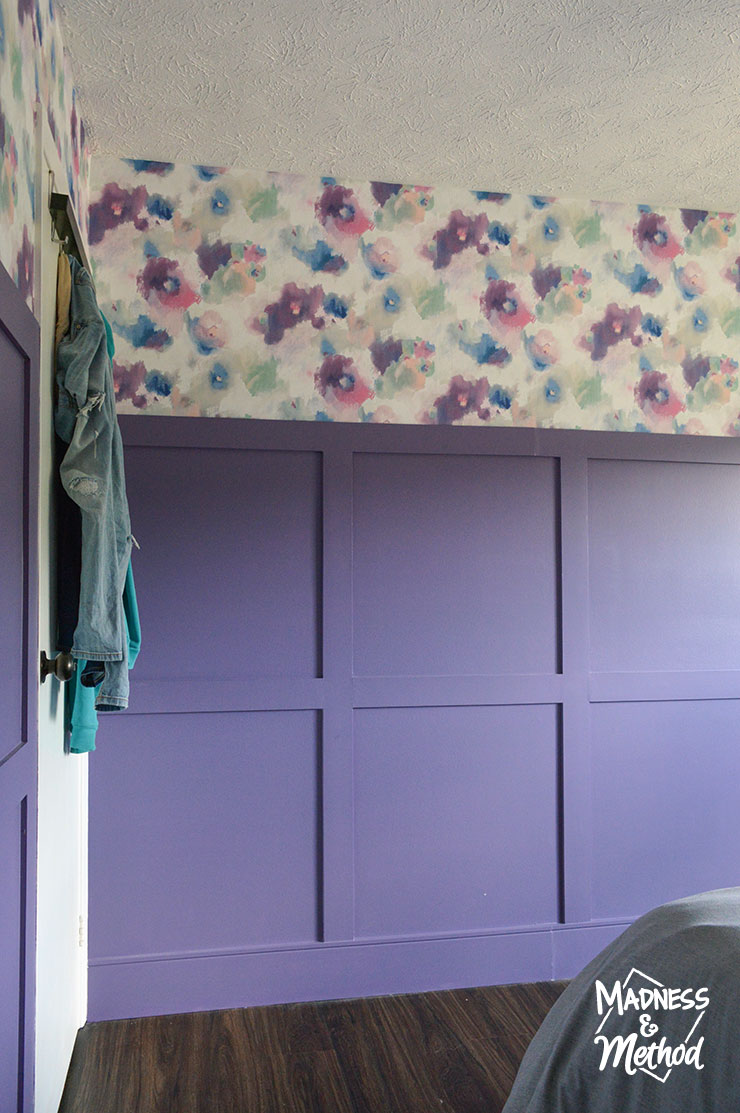 purple and floral wallpaper