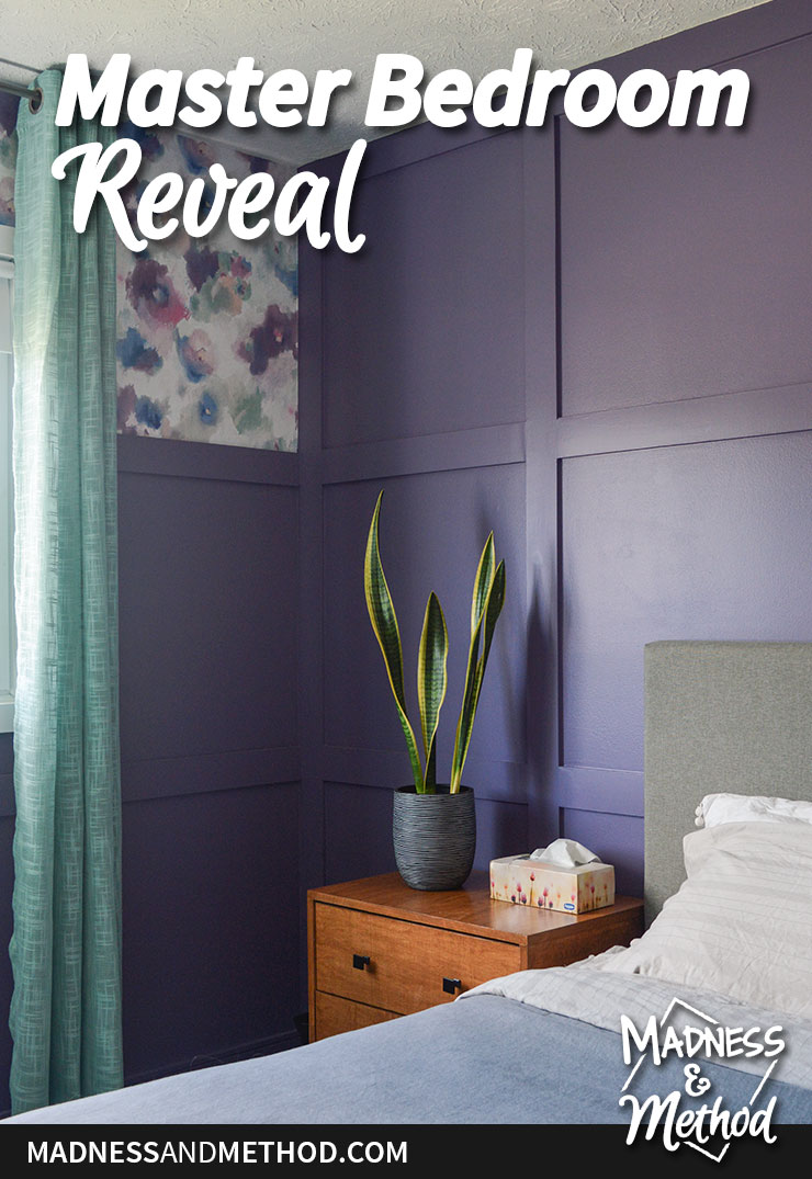 master bedroom reveal graphic