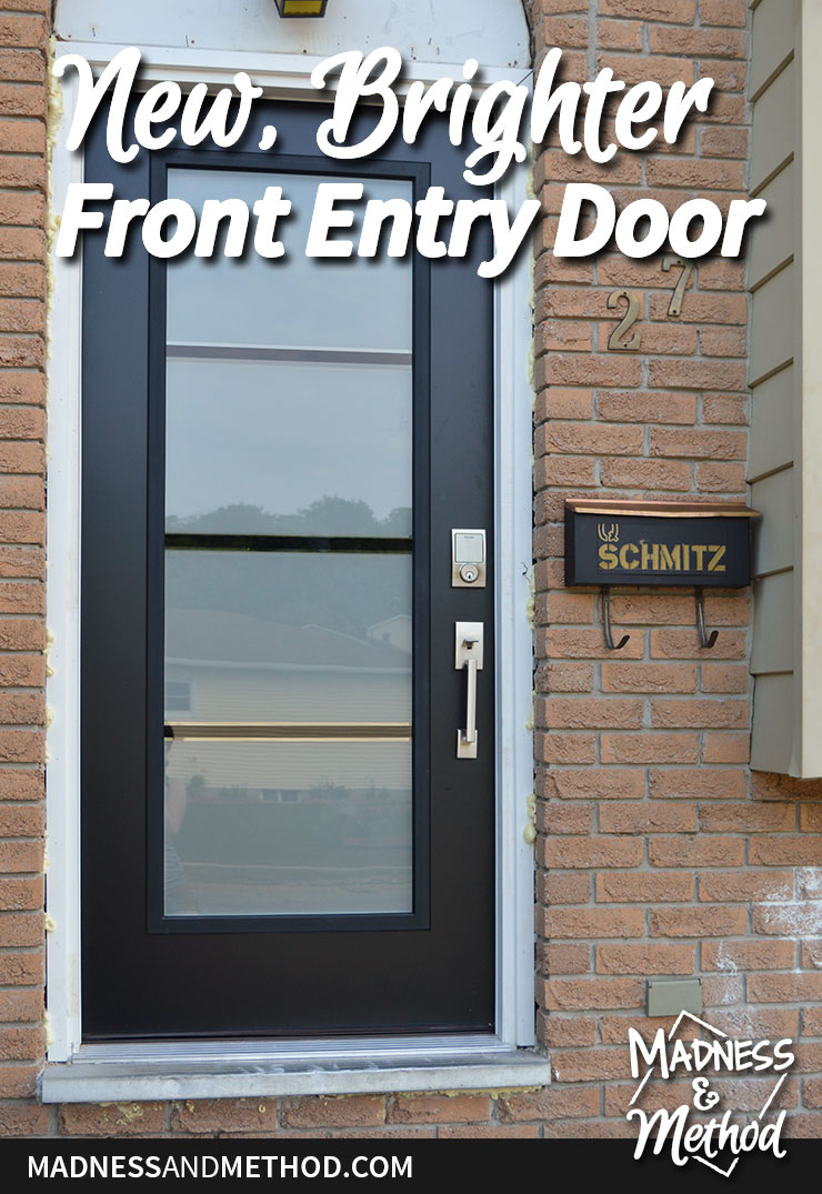 new and bright front entry door