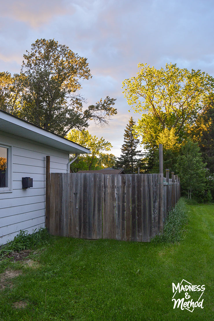 side yard with fence