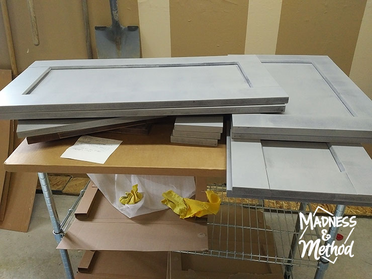 primed ikea kitchen doors