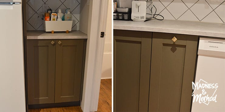 colour variation of painted cabinets