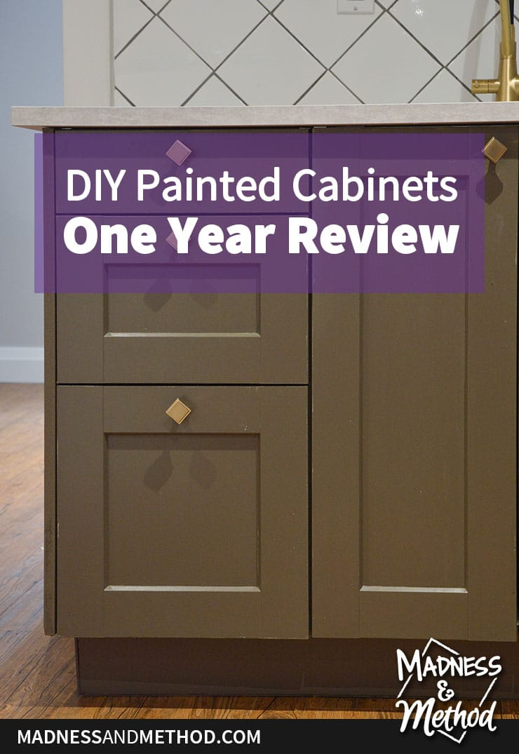 diy painted cabinets wear
