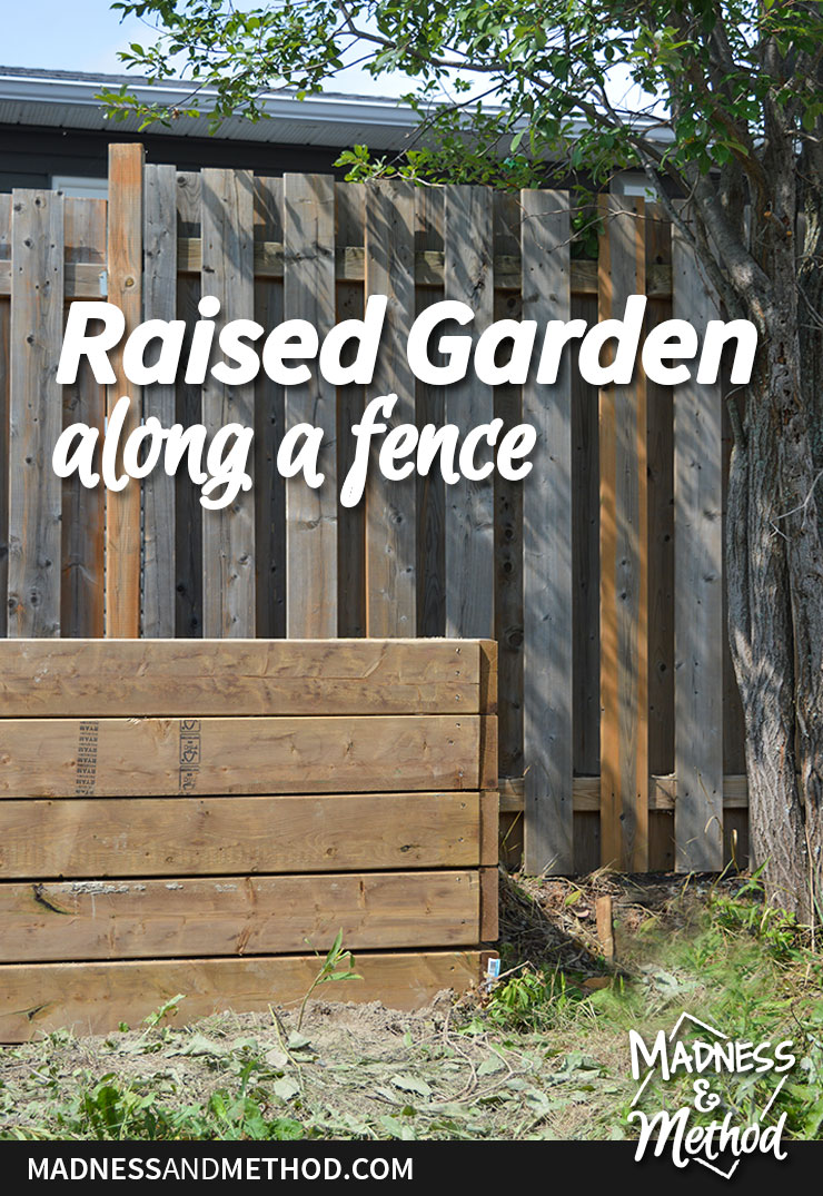 build a raised garden along fence