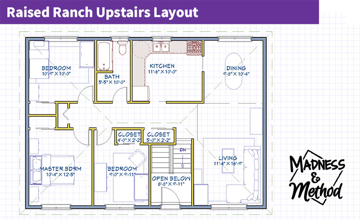 raised ranch home tour upstairs layout