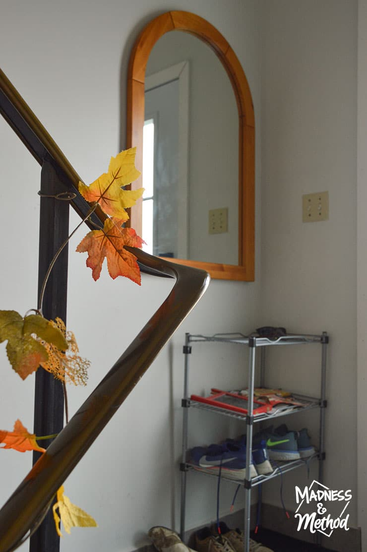 fall leaves in the entry