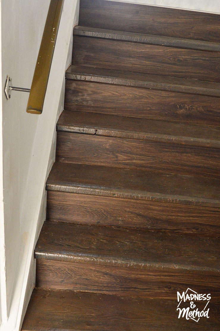 wood painted staircase
