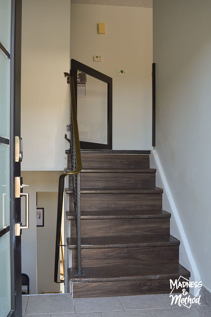 raised ranch wood staircase