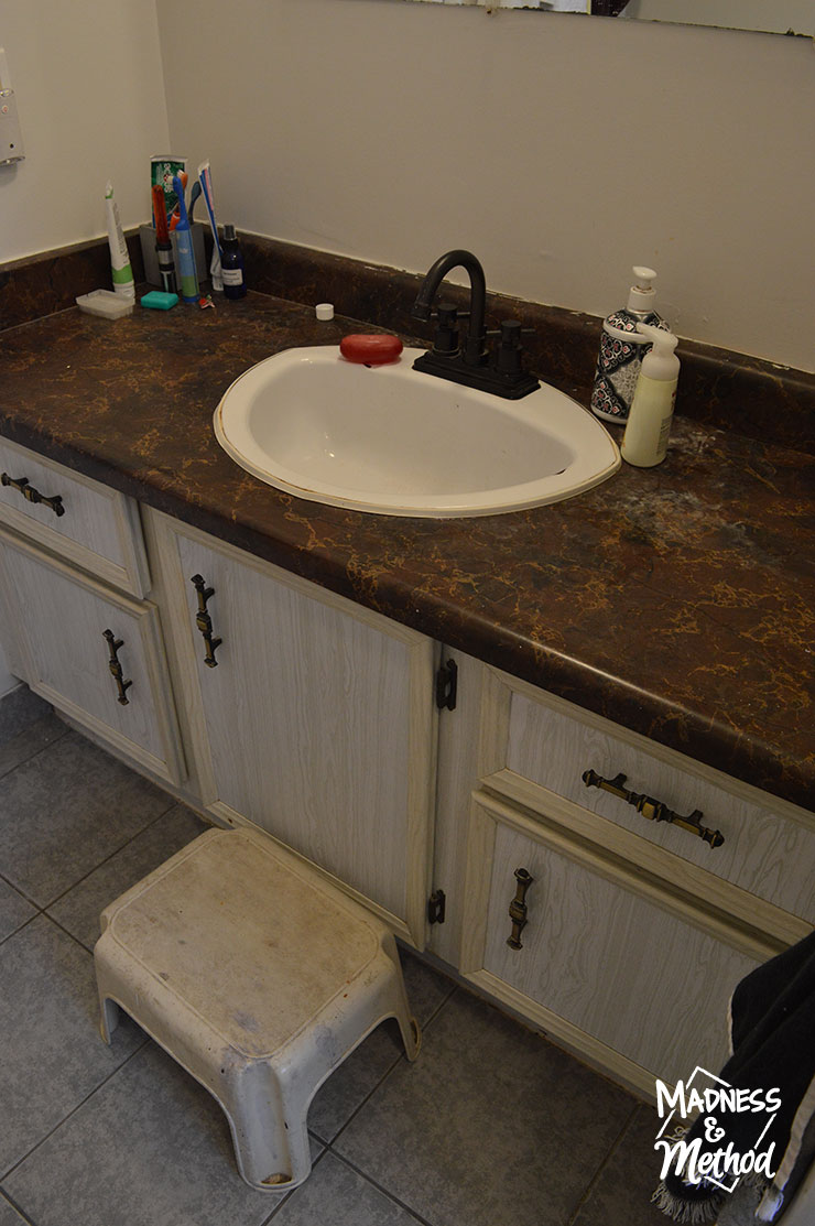 outdated bathroom vanity