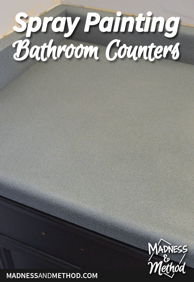 spray painting bathroom counters graphic