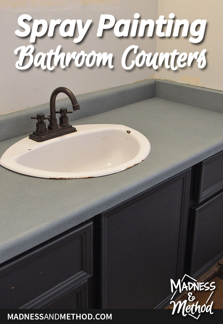 spray painting bathroom counters
