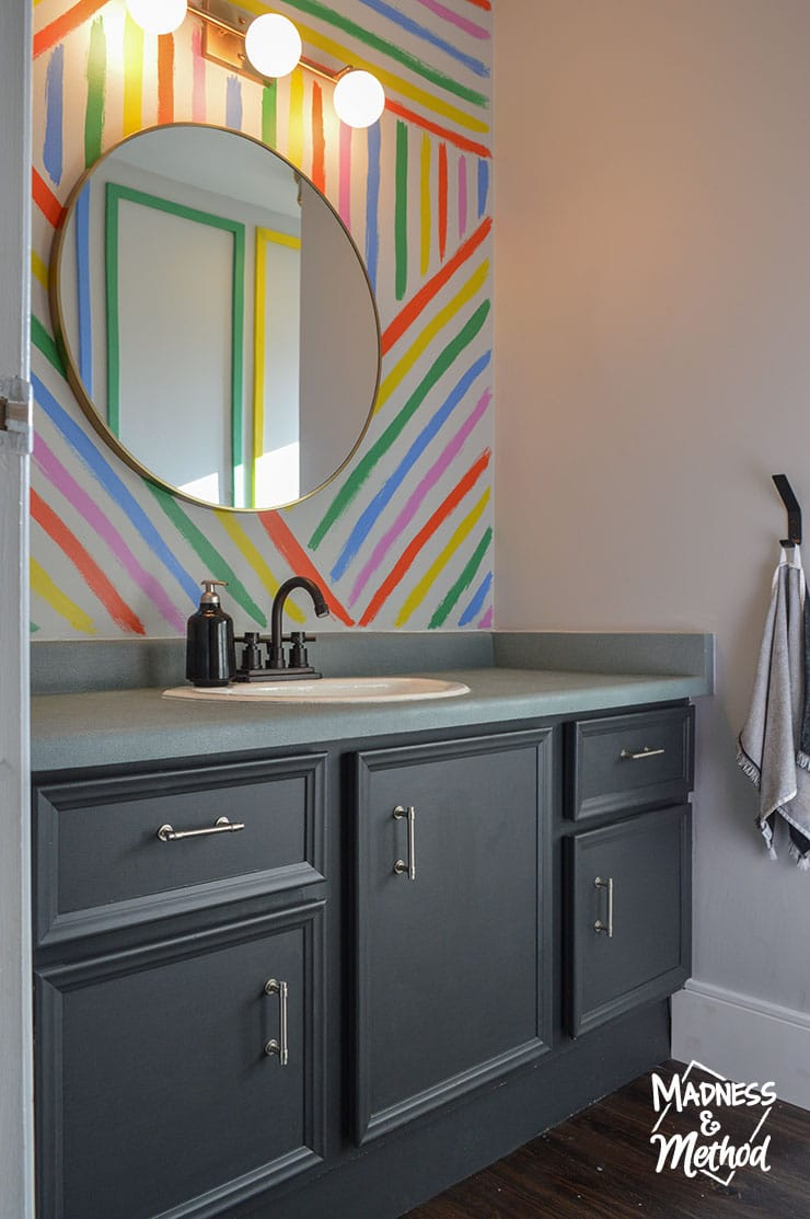 rainbow bathroom