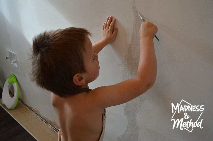 zachary helping paint