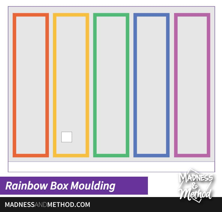 rainbow box moulding graphic