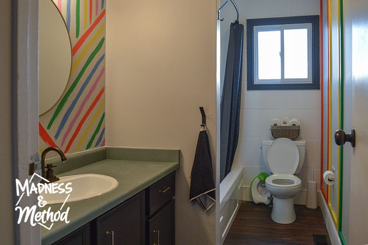 rainbow bathroom makeover