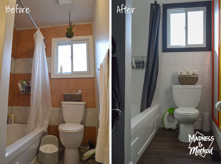 bathroom tiles before after