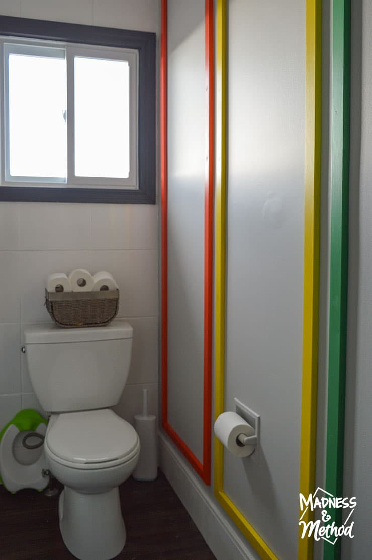 rainbow wall moulding