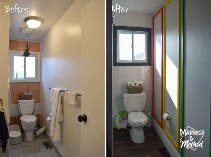 bathroom moulding before after