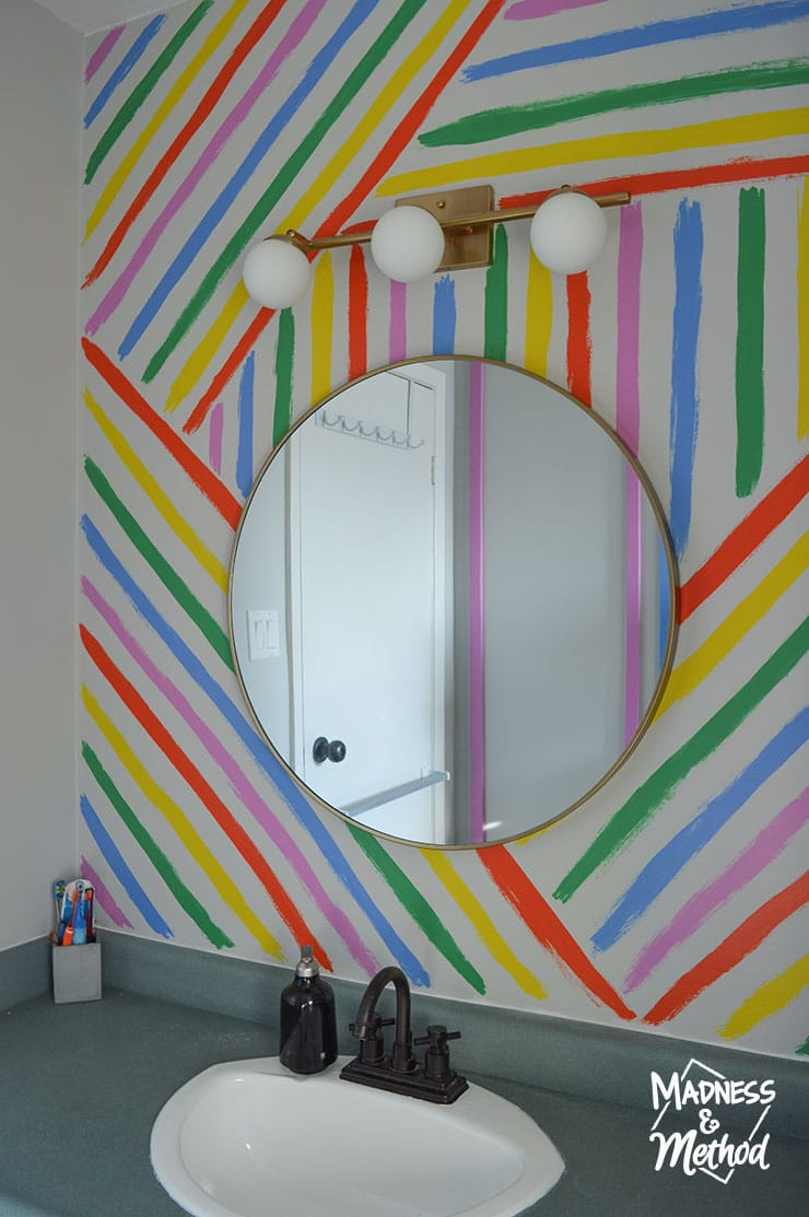 hand painted rainbow stripes