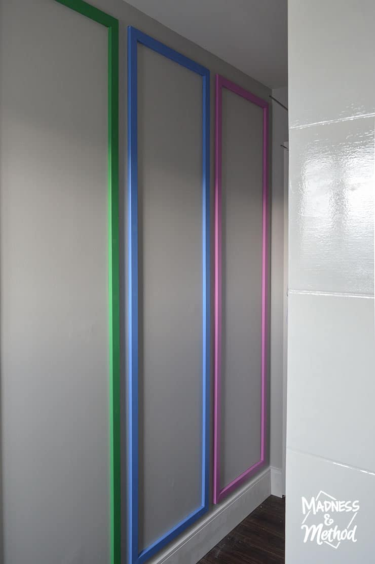 rainbow trim in bathroom