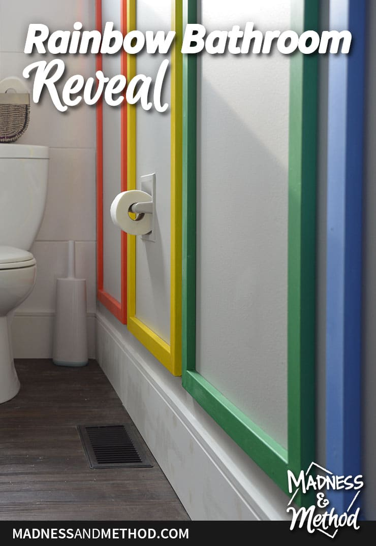 rainbow bathroom reveal image