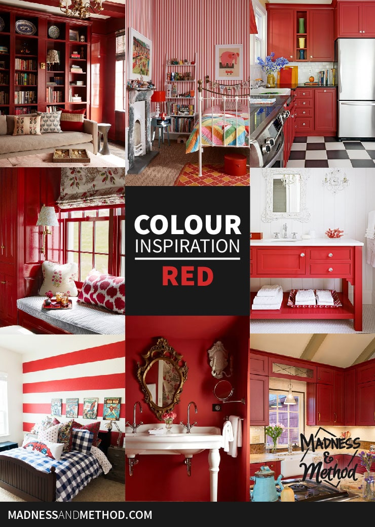 colour inspiration red pinterest