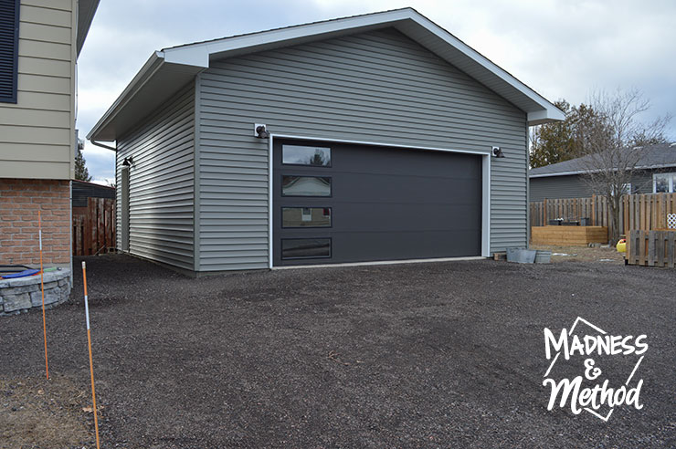 double car garage with gable roof