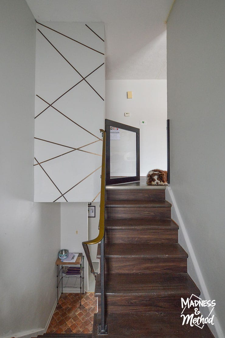fun taped accent wall