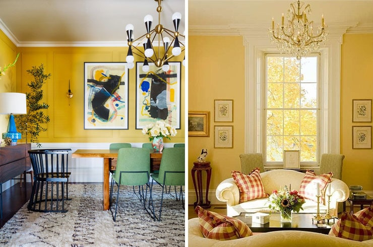 yellow dining living