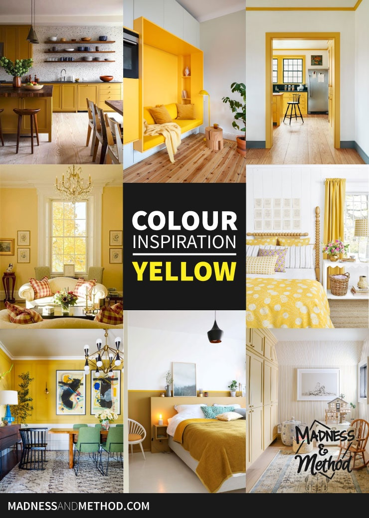 colour inspiration yellow rooms