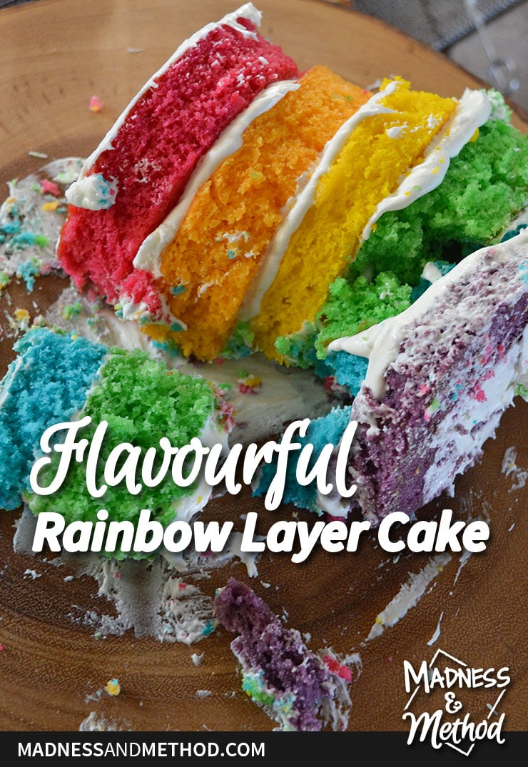 flavourful rainbow layer cake