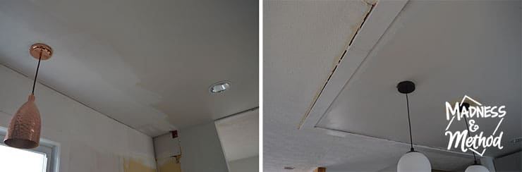 ceiling gaps to be fixed