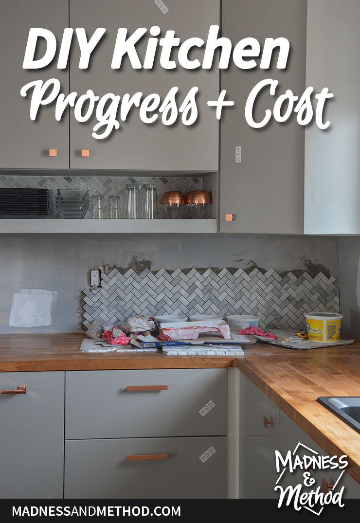kitchen progress and costs