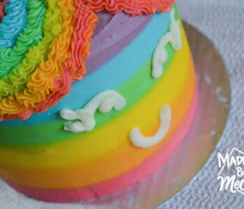 rainbow unicorn cake close up