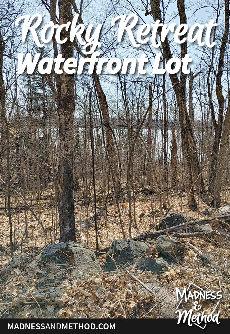 rocky retreat waterfront lot