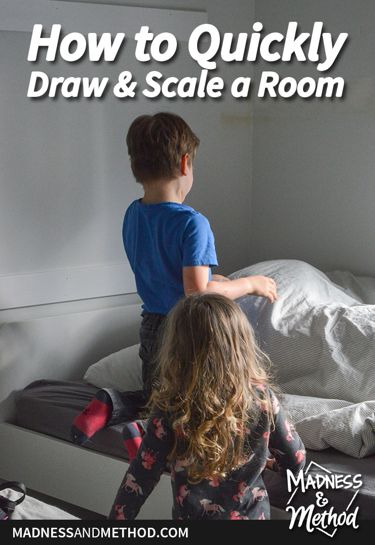 how to quickly draw and scale a room