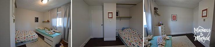 shared kids bedroom before