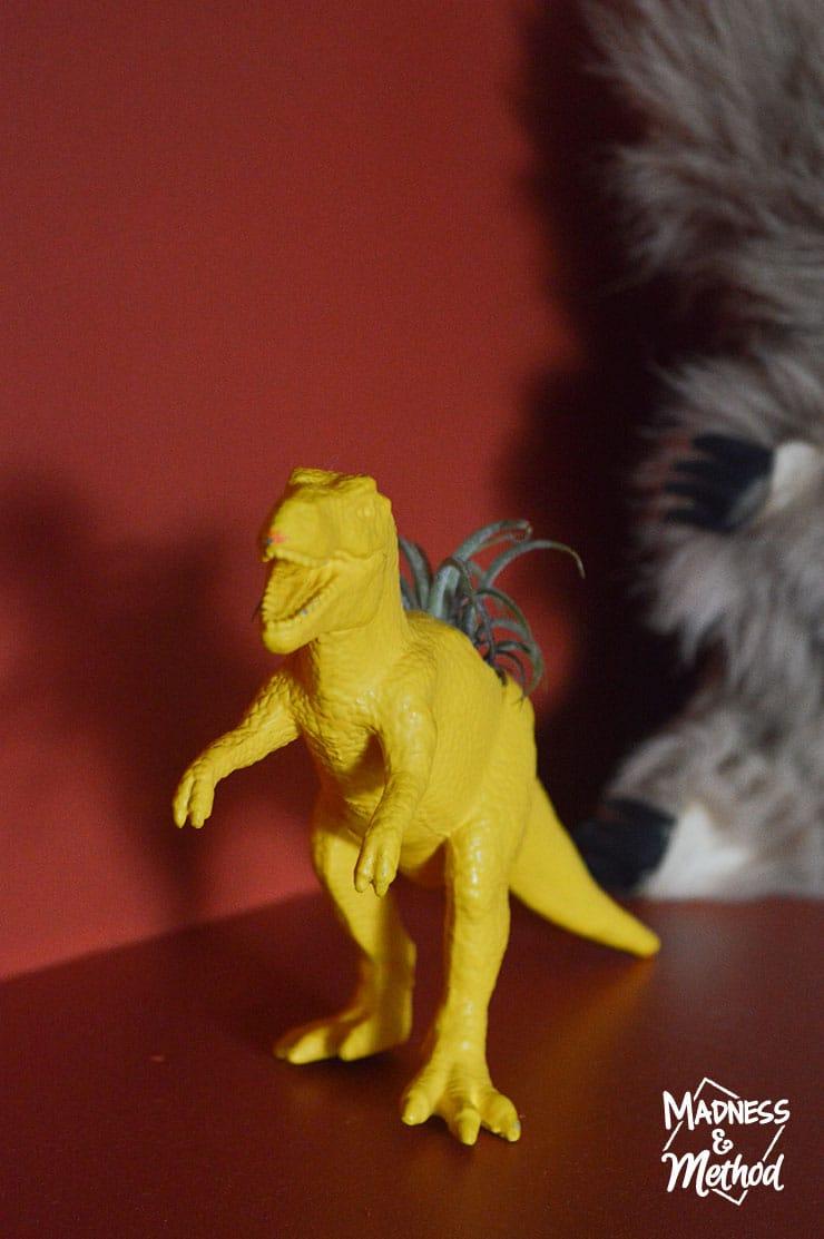 yellow dinosaur planter