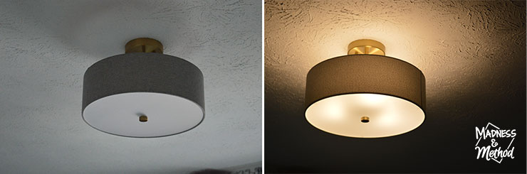 light fixture off and on