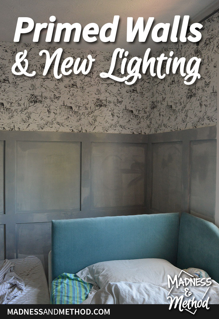 primed walls and new light