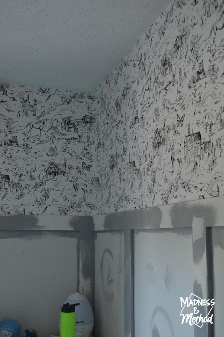 continuing wallpaper around room