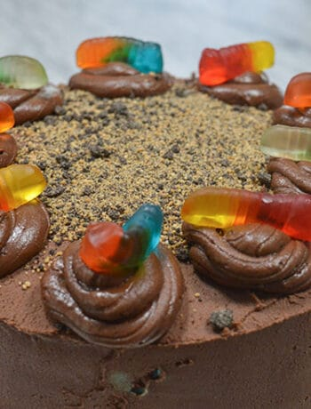 worms and dirt cake
